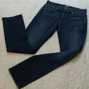 7 For All Mankind The Straight Medium Wash Jeans